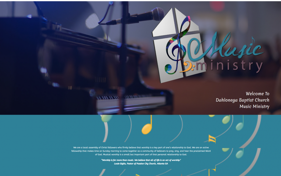 The Dahlonega Baptist Church Music & Worship Ministry Has A New Website